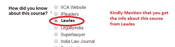 Lawlex IICA Course