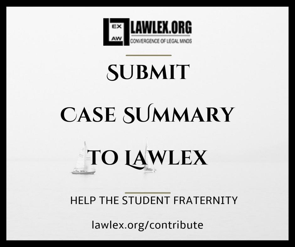 Case Summary Lawlex, C